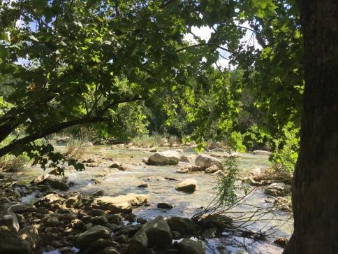 Creek's running